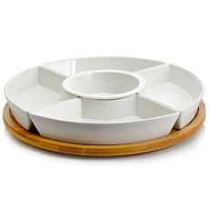 Elama Signature 6-piece Lazy Susan Appetizer and Condiment Server Set
