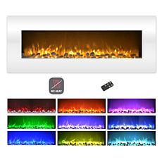 Electric Fireplace- Wall Mount Color Changing LED (NO HEAT) 50 quot...