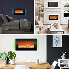 Electric Fireplace- Wall Mount with 13 Backlight Colors 31 quot; (B...
