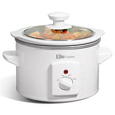 Elite Cuisine 1.5 qt. Mini Slow Cooker in Stainless Steel