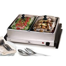 Elite Gourmet 2 x 2.5qt. Buffet Server
