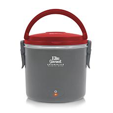 Elite Gourmet Warmables 1-Quart Red Lunch Box Food Warmer