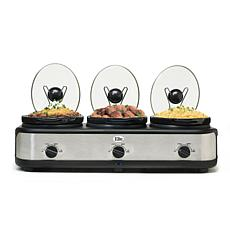 Elite Platinum 3 x 2.5qt. Triple Slow Cooker
