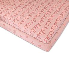 Ely's & Co. Jersey Cotton Pack 'N Play Sheet Set 2-Pack