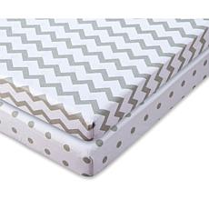 Ely's & Co. Waterproof Jersey Cotton Pack 'N Play Sheet Set 2-pack