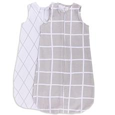 Ely's & Co. Wearable Baby Blanket - Grey Diamond and White Grid