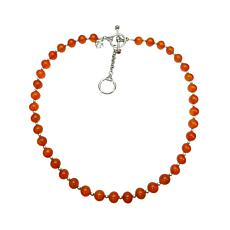 Elyse Ryan Sterling Silver Carnelian Bead Necklace