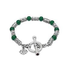 Elyse Ryan Sterling Silver Chalcedony Bead Bracelet