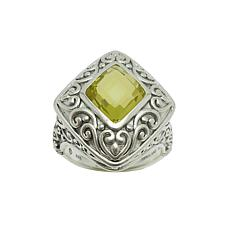 Elyse Ryan Sterling Silver Lemon Quartz Ring