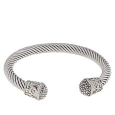 Emma Skye Crystal-Accented Cable Wire Cuff Bracelet