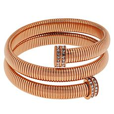 Emma Skye Crystal-Accented Coil Wrap Bangle Bracelet