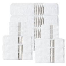 Enchante Home Elegante 100% Turkish Cotton 16-piece Towel Set
