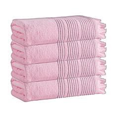 Enchante Home Ellen Set of 4 Turkish Cotton Bath Towels