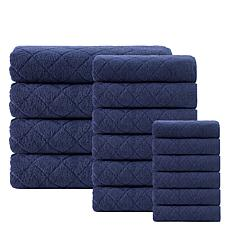 Enchante Home Gracious 16-piece Turkish Cotton Bath Towel Set