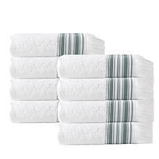 Enchante Home Monaco Set of 8 Turkish Cotton Hand Towels