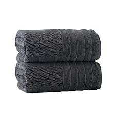 Enchante Home Veta Set of 2 Turkish Cotton Bath Towels