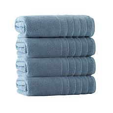 Enchante Home Veta Set of 4 Turkish Cotton Bath Towels