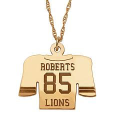 Engraved Football Jersey Pendant with Chain