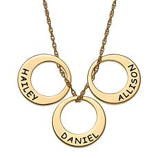 Engraved Name 3-Disc Necklace