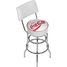 Enjoy Coca-Cola White Pub Stool with Back
