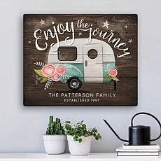 Enjoy The Journey Personalized 11x14 Canvas