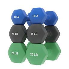 Epic Fitness 90 lb. Neoprene Dumbbell Set