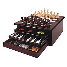Etna Toys Wooden 15-in-1 Game Center