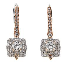 Ever Brilliant 1.22ctw Lab-Grown Diamond Scallop Edge 14K Earrings