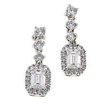 Ever Brilliant 14K White Gold 1ctw Lab Grown Diamond Drop Earrings