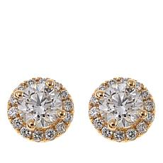 Ever Brilliant 1.52ctw Lab-Grown White Diamond Circle Stud Earrings