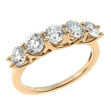Ever Brilliant 1.5ctw Lab-Grown White Diamond 5-Stone 14K Ring
