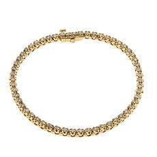 Ever Brilliant 1ctw Lab-Grown White Diamond Tennis Bracelet