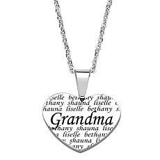 "Everscribe ""Grandma"" Engraved Heart Pendant with Chain"
