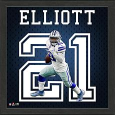 Ezekiel Elliot Impact Jersey Framed Photo