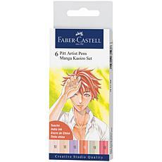 Faber-Castell Manga Pen Kaoiro Set of 6