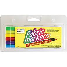 Fabric Marker Fine Tip 6-pack - Brilliant Colors