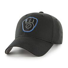 Fan Favorite Milwaukee Brewers MLB Black Classic Adjustable Hat