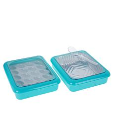 Fancy Panz Set of 2 Serving Trays with Deviled Egg Tray