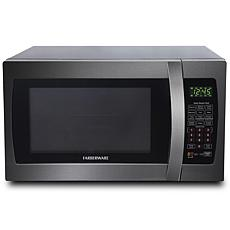 Farberware Black 1.3 Cu. Ft. 1100W Microwave Oven w/ Smart Sensor