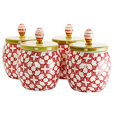 Farm Heart 4 Piece Set of  1.7 Qt Canister