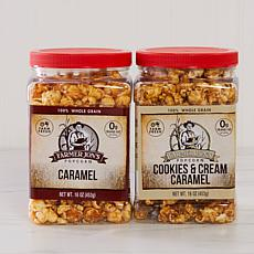 Farmer Jon's 2-pack 16 oz. Caramel and Cookies & Cream Popcorn