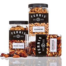 Ferris 3lb Salted and Roasted Mixed Nut Variety Pack AS
