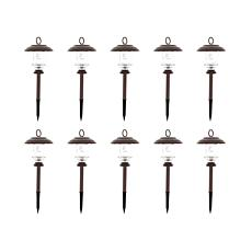 FieldSmith 10-pack Solar Pathway Lights with 6 Color Modes and Remote