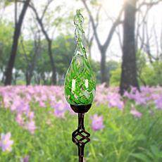 FieldSmith  Venetian Dreams Solar Glass Flame-Design Garden Stake