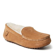 Fireside By Dearfoams Women's Mel Genuine Shearling Moccasin Slipper