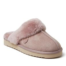 Fireside By Dearfoams Women's Sydney Genuine Shearling Scuff Slippers
