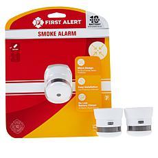 First Alert 3-pack 10-Year Atom Micro Smoke Alarms