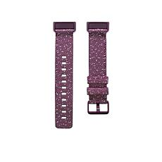 FitBit Charge 4 Small Woven Band in Rosewood