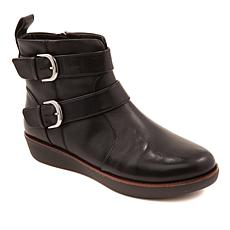 FitFlop Laila Leather Double Buckle Boot