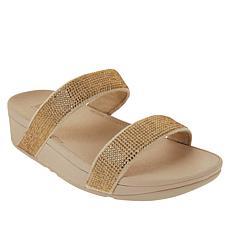 FitFlop Lottie Shimmer Crystal Slide Sandal